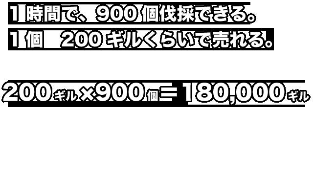 2018/09/13/ 13:4018万ギルの時給